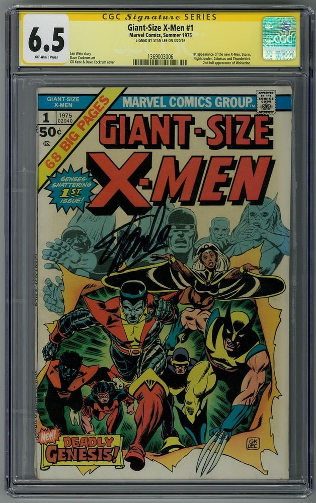 6703a853957 Giant Size X-Men #1 CGC 6.5 (OW) Signed by Stan Lee 1st appearance ...