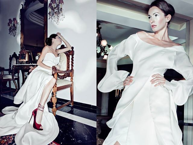 Modell: Sofia Galanakis Photo: Irina Dianova-Spiru Clothes, shoes: Valtadoros Paris Styling: Giselle Karounis. Hair: Vassilis Saroglou MUA: Jian Li