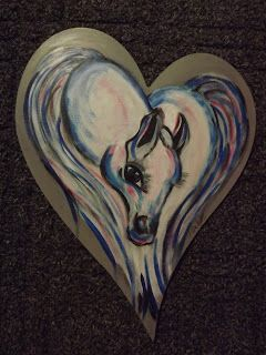 A Pretty Talent Blog: Painting A Heart-Shaped Horse In Acrylics