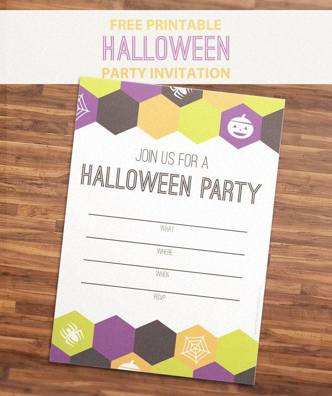 無料で印刷可能なハロウィーンパーティーの招待状