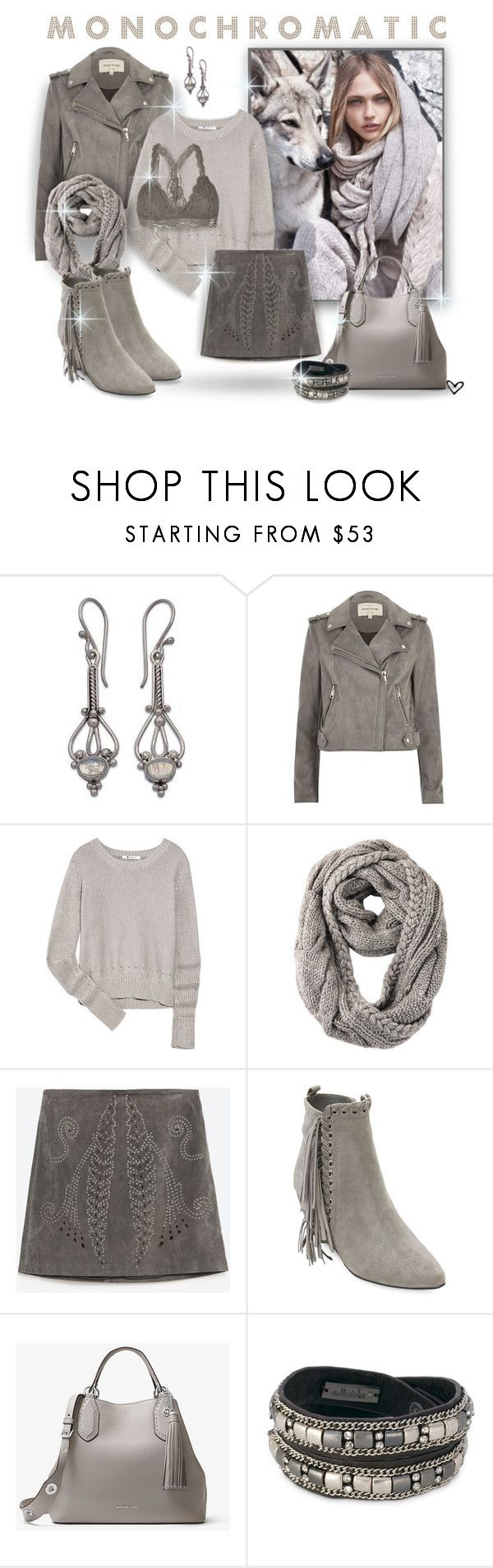"""""""~ MICHAEL ~ Michael Kors~ Brooklyn Large Leather Tote ~"""" by justwanderingon ❤ liked on Polyvore featuring NOVICA, River Island, MANGO, T By Alexander Wang, RE ENVY, Zara, Matisse, MICHAEL Michael Kors and Stella & Dot"""