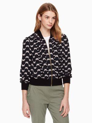 butterfly bomber jacket   Kate Spade New York