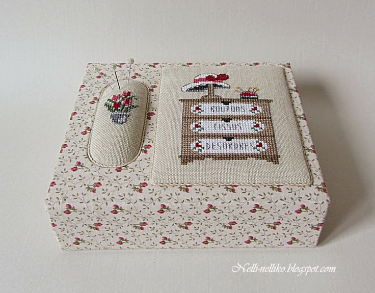 Just love this well worked cross stitch box. This site is lovely!
