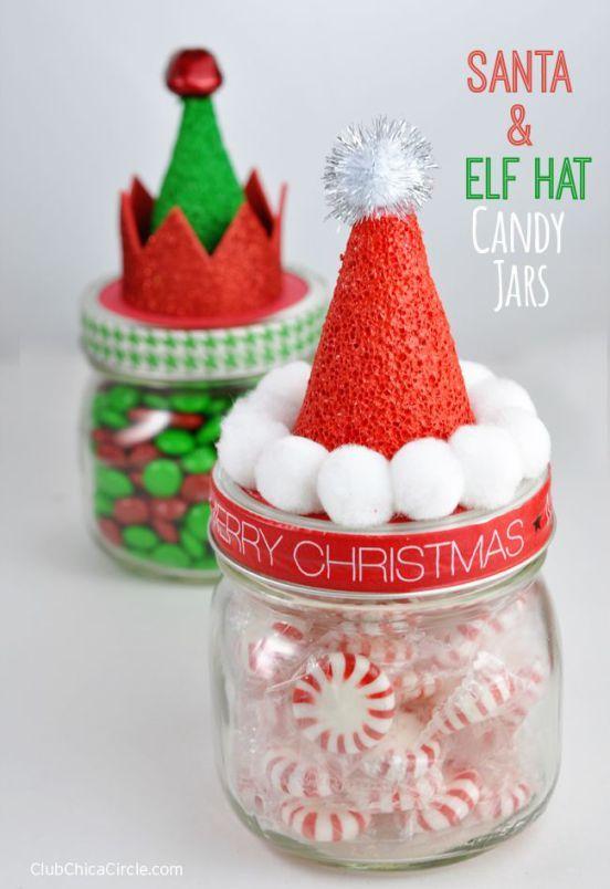 DIY Holiday Candy Jars Homemade Gift Idea #MakeItFunCrafts