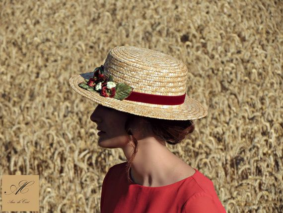 Hey, I found this really awesome Etsy listing at https://www.etsy.com/listing/214917784/canotier-hat-straw-summer-hats-floral
