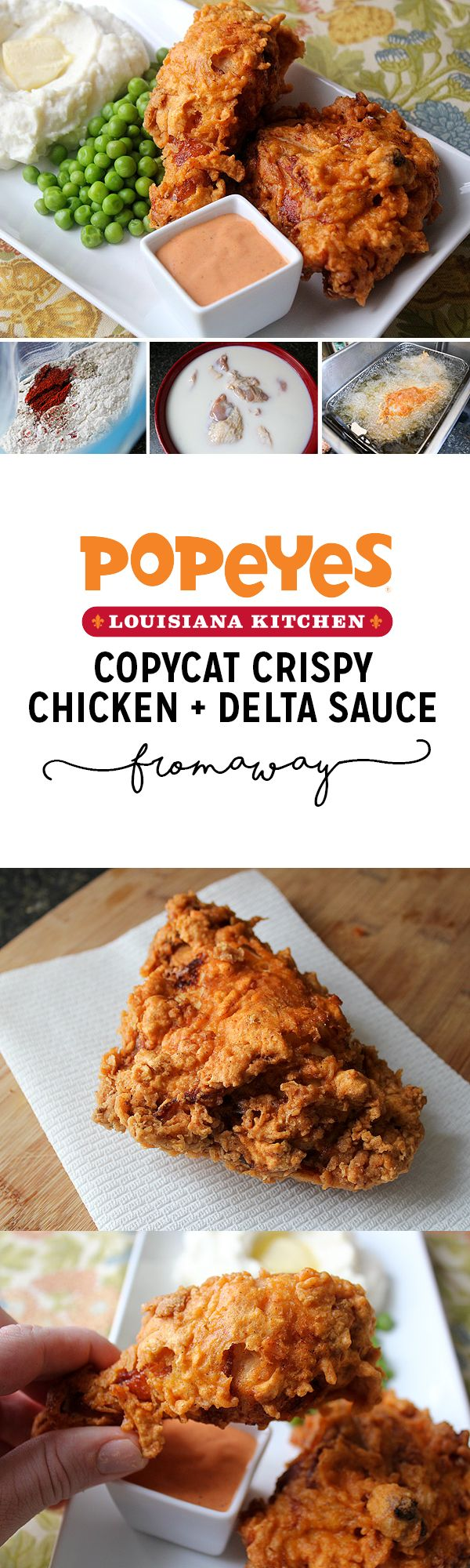 """Extra-Crispy Spicy Fried Chicken with Popeye's Copycat """"Delta"""" Sauce"""