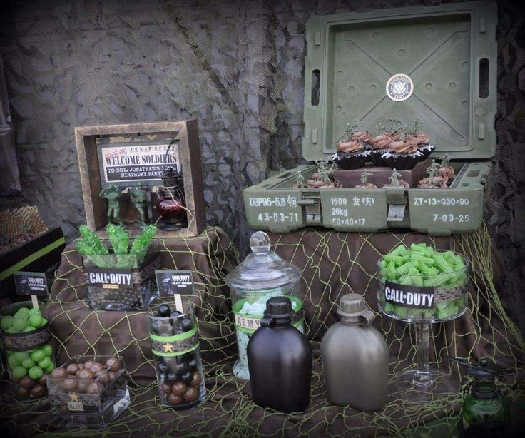 Call of Duty Military Birthday Party Ideas | Photo 4 of 11 | Catch My Party
