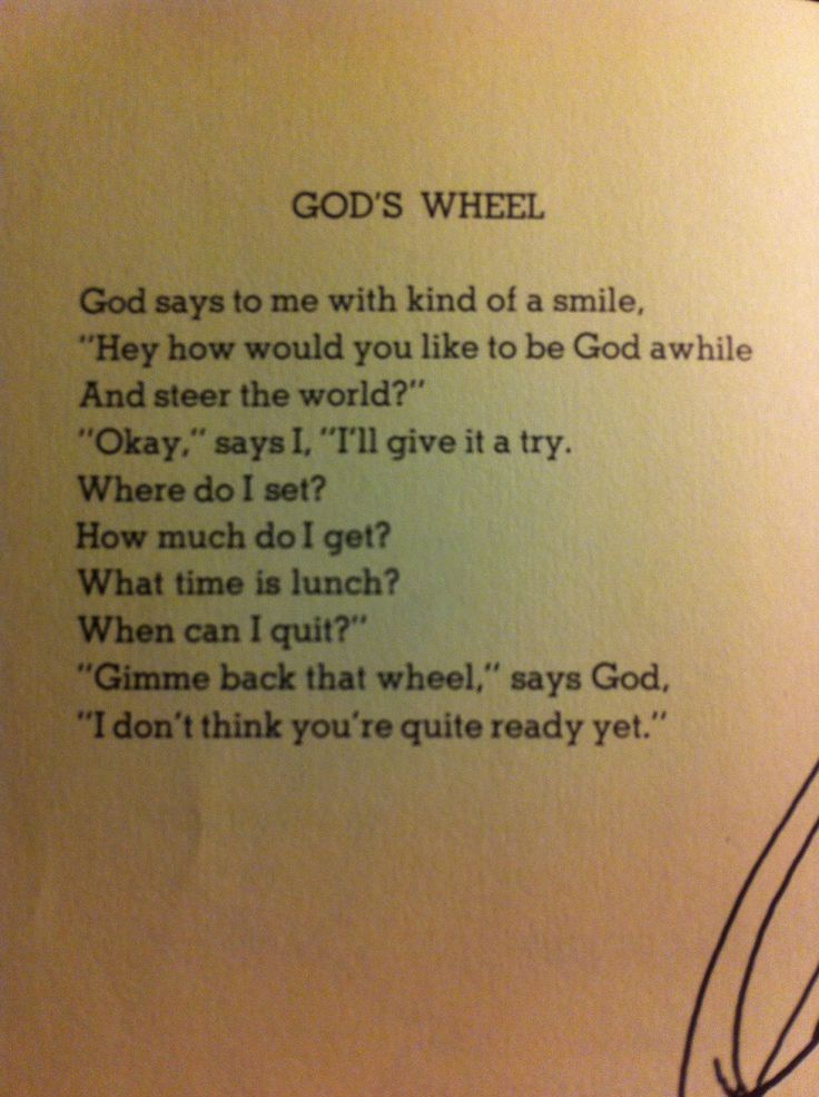 Image result for gods wheel by shel silverstein