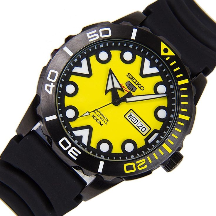 A-Watches.com - Seiko 5 Sports Yellow Dial Automatic Luminous Hands Markers Gents Watch SRPA11K SRPA11, $152.00 (https://www.a-watches.com/seiko-5-sports-yellow-dial-automatic-luminous-hands-markers-gents-watch-srpa11k-srpa11/)