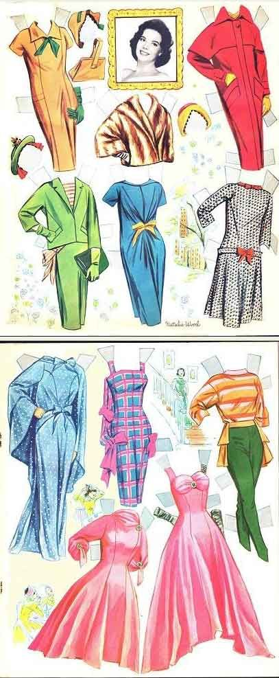 Natalie Wood* 1500 free paper dolls The International Paper Doll Society Arielle Gabriel artist #QuanYin5 Twitter, Linked In QuanYin5 *