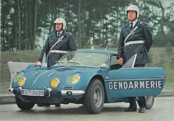 Alpine A110, gendarmerie France