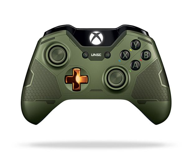 Manette Xbox One - Halo 5 MasterChief - http://www.jeuxvideo.org/2015/10/manette-xbox-one-halo-5-masterchief/                                                                                                                                                                                 Plus