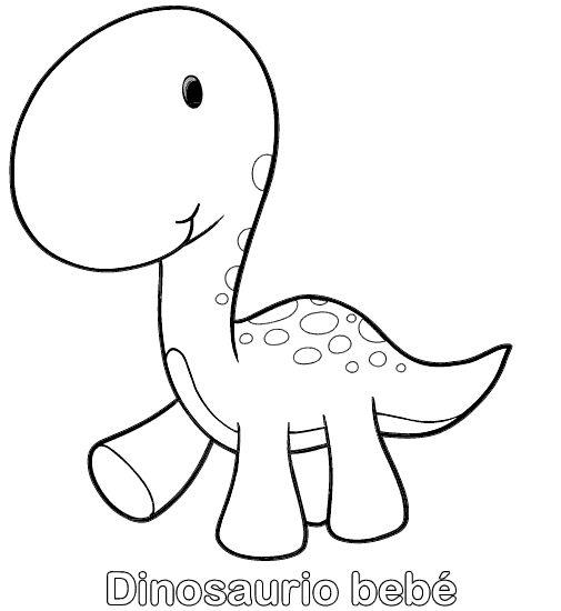 Dibujo colorear dinosaurio Tricertops sonriendo dino t