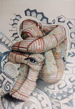 """Saatchi Art Artist Paola Epifani  Rabarama; Drawing, """"CONDIZIONATAMENTE study"""" #art"""