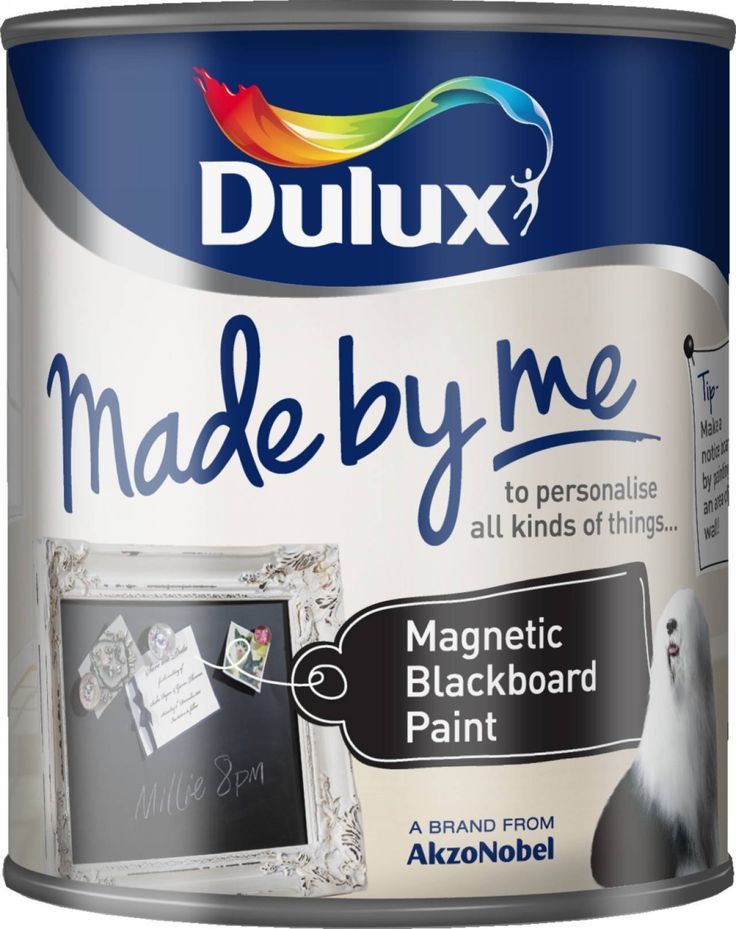 dulux made by me magnetic blackboard paint 750ml amazon. Black Bedroom Furniture Sets. Home Design Ideas
