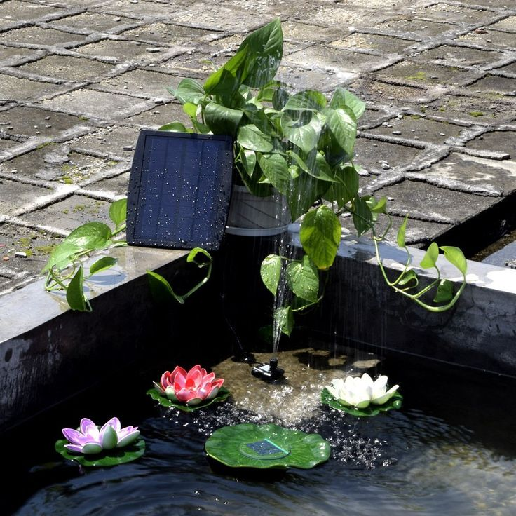 amazonsmile solar power fountain elstey 9v25watts solar panel water floating fountain - Solar Powered Fountain