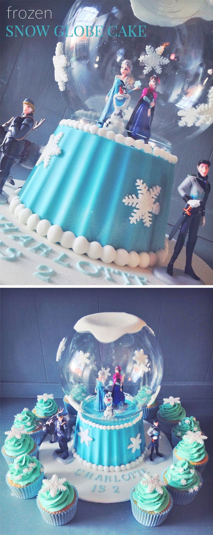 The little ladies are still going mad for Frozen, I've made about five of these Frozen Snow Globe cakes with another one ordered for next month