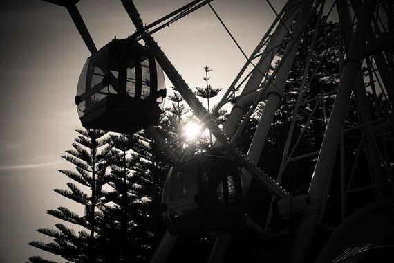 Fremantle Ferris Wheel and Sunset  6000 x 4000 by StarPoint9