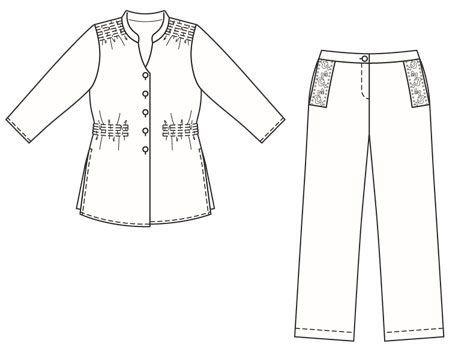 Блуза - выкройка № 131 из журнала 3/2007 Burda – выкройки блузок на Burdastyle.ru