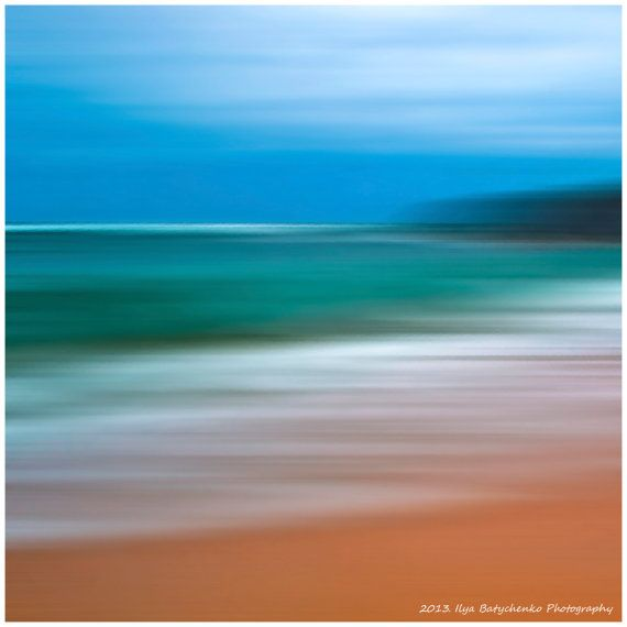 Motion Abstract Landscape Ocean Seascape Art by IlyaPhotography, $23.00