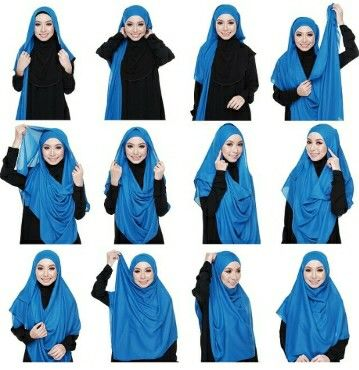 Hijab tutorial by Kak Mirah :)  Have a try ;)