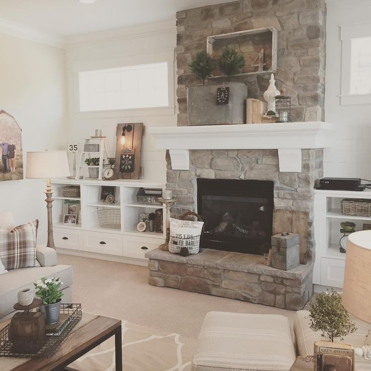 Stone Fireplace With Built In Cabinets: Pinterest • The World's Catalog Of Ideas