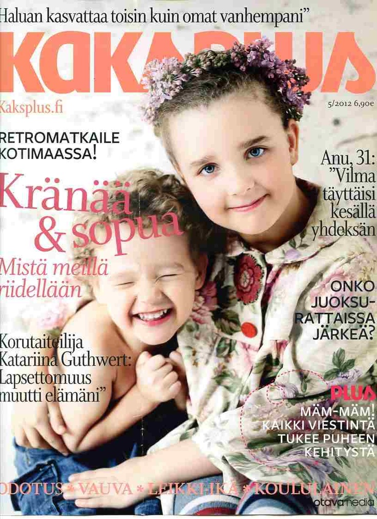 Style Pia Hollo Our Kristiina jacket in the cover of Kaksplus magazine http://www.minna.co.uk/blog/our-kristiina-jacket-cover-finnish-kaksplus-magazine