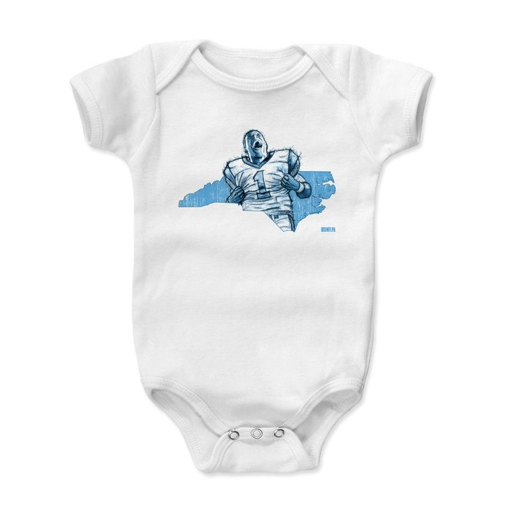 Kids Cam Newton Map L Onesie from 500 LEVEL. This Cam Newton Onesie comes in multiple sizes and colors.