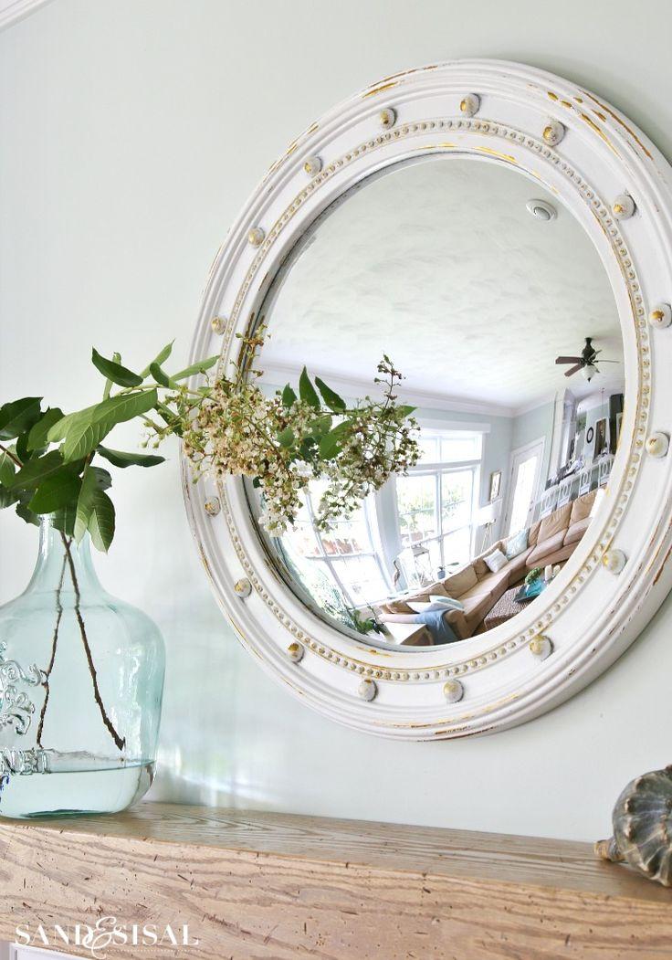 Fisheye Mirror - Coastal Mantel