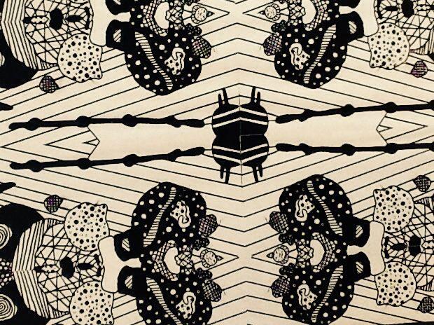 Psychedelic print from banana peel! Talloolahs doodles '10