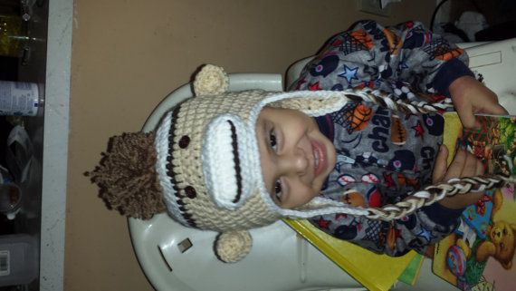 Hey, I found this really awesome Etsy listing at https://www.etsy.com/listing/230804948/sock-monkey-crochet-beanie-sock-monkey