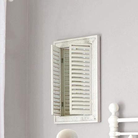 Chalk Cottage Collection Shutter Mirror | Dunelm