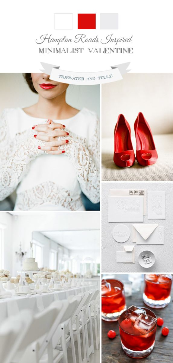 Bold and modern Valentine wedding inspiration