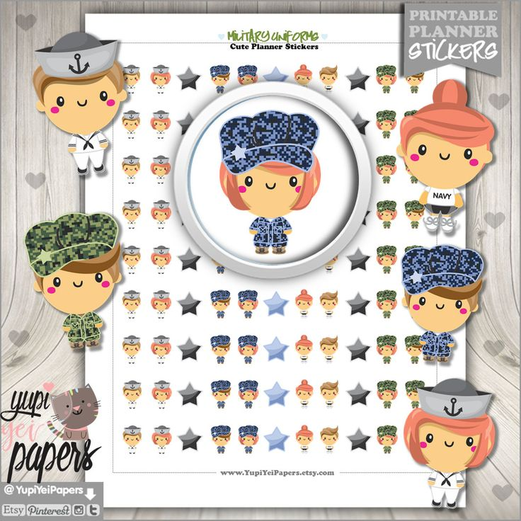 Military Stickers, Planner Stickers, Kawaii Stickers, Planner Accessories, Military Army, Camouflage Stickers, Navy Stickers, Army Stickers
