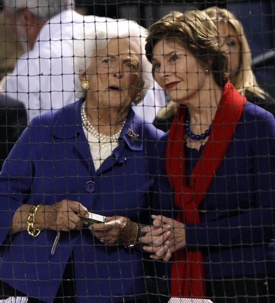 Barbara and Laura Bush