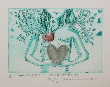 Galleri Graff - Egenkjærligheten vil lindre og helbrede deg Av Bjørg Thorhallsdottir