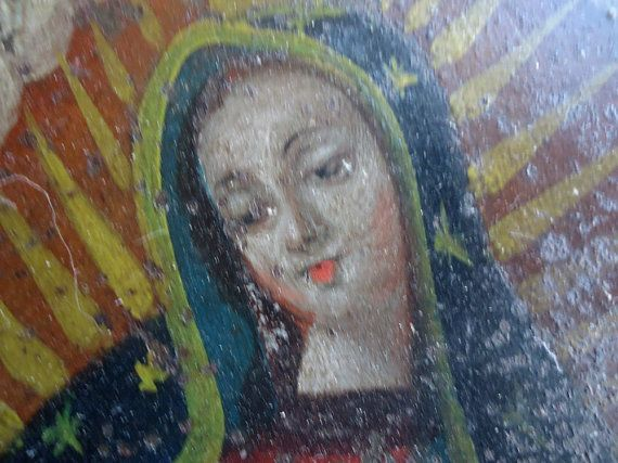 Antique Mexican Santos Retablo Our Lady of by allthingsbarbara, $650.00