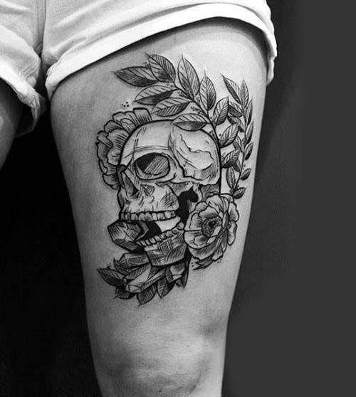 male top leg tattoo models man thigh tattoos 11