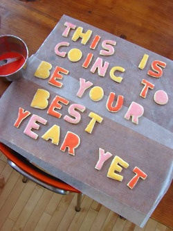 cookie inspiration for a new year: Ideas, Birthday Presents, Sugar Cookies, Birthday Parties, Happy New Year, Birthday Cookies, Cookies Cutters, New Years Eve, Messages