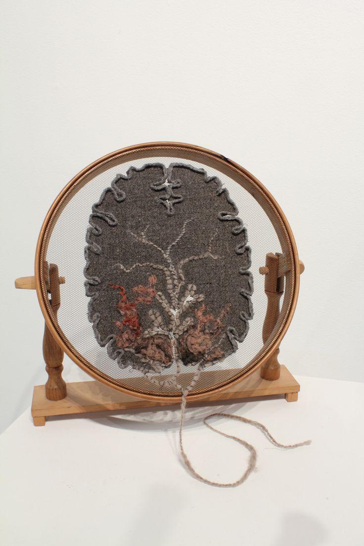 Specimen # 15.Brain Slice. soft tissue anatomy sculpture by Andrew Delaney .Anno Domini Home . The Vivisector . Pic by Vikki Kassioras