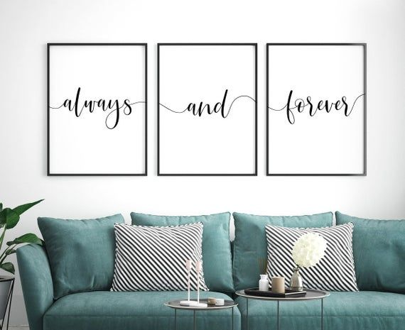 Always And Forever Printable Art Set Of 3 Wall Art Couple Etsy Cuadros Modernos Para Dormitorio Cuadros De Pared Cuadros Decorativos Para Living