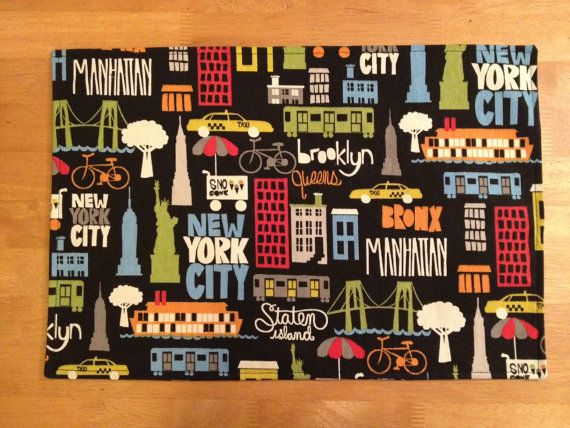 Placemats New York City design by alitamarie on Etsy, $20.00