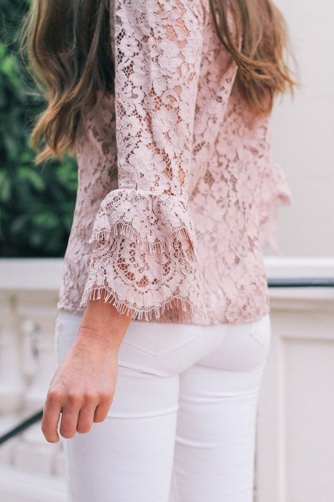 Maternity Coats & Jackets Pink Lacey Style Top