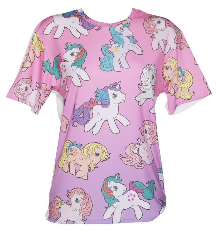 EXCLUSIVE Ladies Vintage My Little Pony Ombre T-Shirt From Mr Gugu & Miss Go : TruffleShuffle.com
