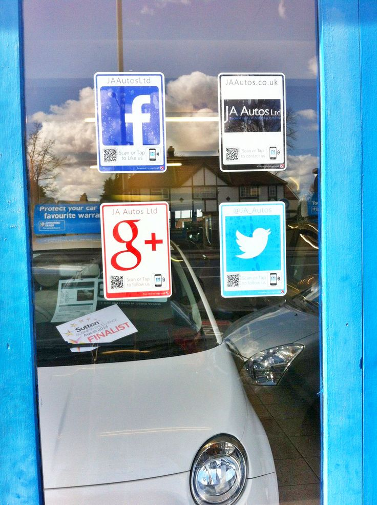 A very social looking J A Autos helping turn their footfall into followers #tyfif