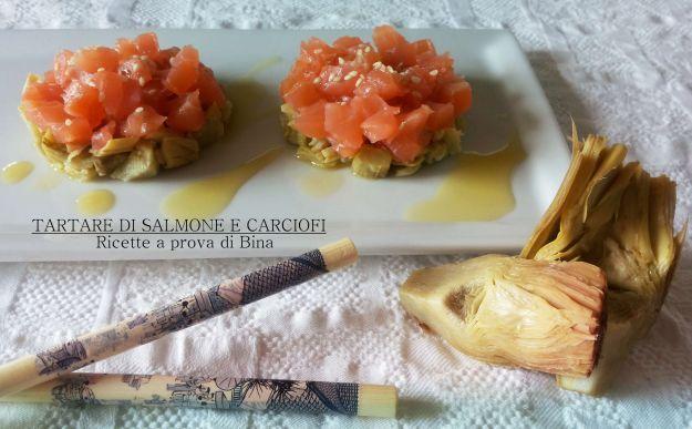tartare di salmone e carciofi