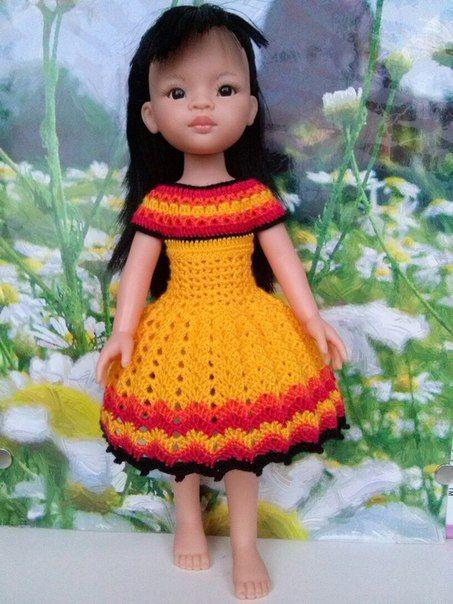 Вязанная одежда для кукол Паола Рейна (knitted clothes for Paola Reina dolls)