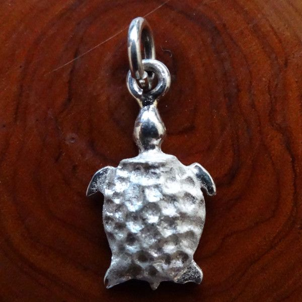 Turtle Charm. In Sterling Silver or Gold - GoodiesHub.com
