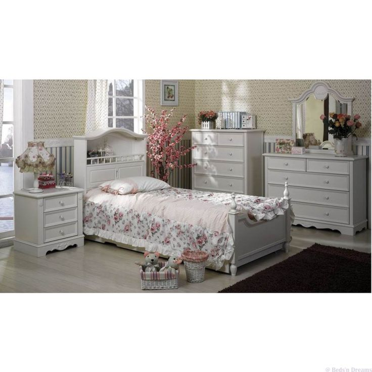 Pianist Ivory White Colonial Timber Bed