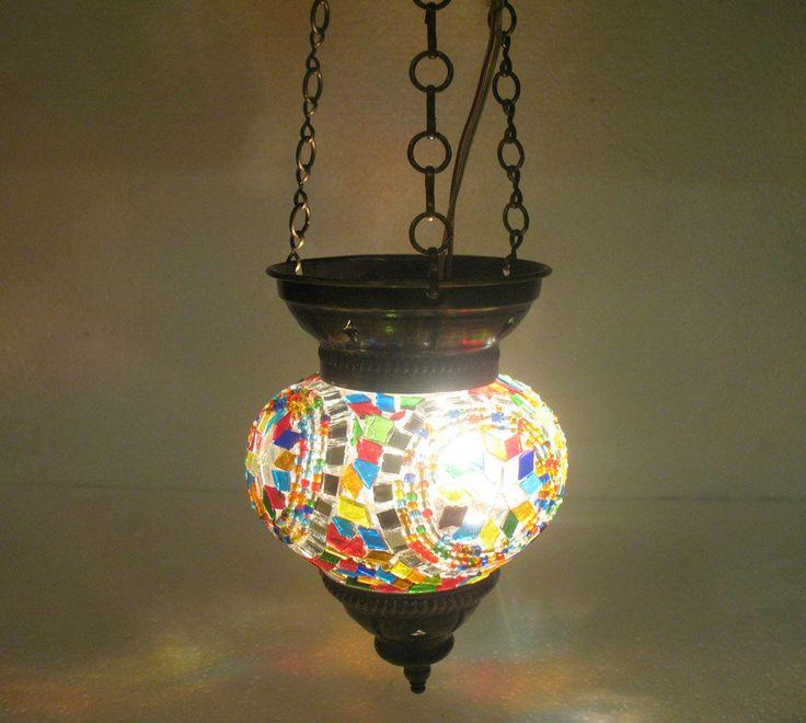 moroccan lantern mosaic hanging lamp glass chandelier. Black Bedroom Furniture Sets. Home Design Ideas